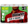 Save $1.50 on ONE (1) Brawny® Tear-A-Square Paper Towels product, (6-Roll).