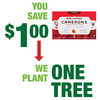 Save $1.00 on one (1) Cameron's Coffee item
