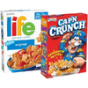 Save $1.00 on 2 Cap'n Crunch, Life, or Quaker Cereals when you buy TWO (2) boxes...
