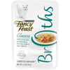 SAVE $2.25 on twelve (12) 1.4 oz pouches of Fancy Feast® Broths Gourmet Cat Compl...