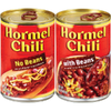 Save $0.55 on 2 HORMEL® Chili when you buy TWO (2) HORMEL® Chili product