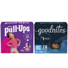 Save $2.50 off any ONE (1) pkg of PULL-UPS® Training Pants or GOODNITES® Bedt...