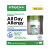 Save $1.00 on one (1) TopCare All Day Allergy CETIRIZINE HYDROCHLORIDE Tablets (10 mg...