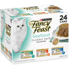Save $1.00 on one (1) 24 or 30 ct Variety Pack (3 oz can) of Fancy Feast® Wet Cat...