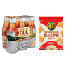 Save $3.00 on one (1) Gold Peak Tea (6pk) and one (1) Ritz Toasted Chip assorted vari...