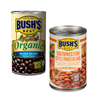 Save $1.00 on two (2) Bush Organic Beans or Savory Beans