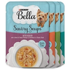 Save $2.00 on four (4) 1.4 oz pouches of Purina® Bella® Savory Soups Dog Comp...
