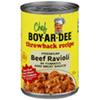 Save $0.55 $.55 OFF TWO (2) CHEF BOYARDEE THROWBACK 15 OZ.  LASAGNA, BEEFARONI OR BEEF RAVIOLI