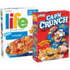 Save $1.00 on 2 Cap'n Crunch, Life, or Quaker Cereals when you buy TWO (2) boxe...