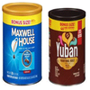 Save $1.00 on one (1) Maxwell House or Yuban Coffee (22-37.2 oz., excludes 29.3 oz. D...